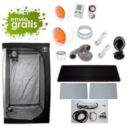 Kit LED 260w con armario 100x100x200cm básico DARK BOX Cultivo con armario LED