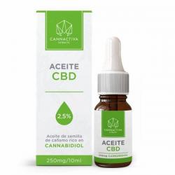 Aceite CBD 2.5% 10 ml Cannactiva  Aceite con CBD