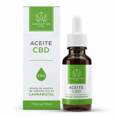 Aceite CBD 2.5% 30 ml Cannactiva  Aceite con CBD