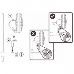Ventilador de pinza oscilante 20W Cornwall Electronics  VENTILADORES