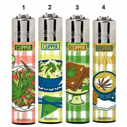 Encendedor Clipper Classic Food Leaves (1ud) CLIPPER MECHEROS/ENCENDEDORES CLASSIC