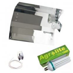 Kit CFL Agrolite Crecimiento 150w Shiny Liso  BAJO CONSUMO